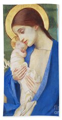 Madonna And Child Bath Towel