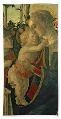 Madonna And Child With St. John The Baptist Bath Towel