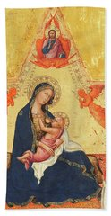 Madonna Of Humility Hand Towel
