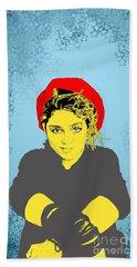 Madonna On Blue Hand Towel
