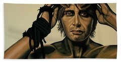 Mads Mikkelsen Painting Hand Towel