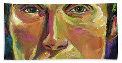 Mads Mikkelsen Hand Towel by Robert Phelps