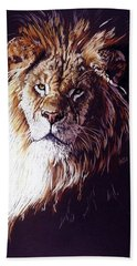 Bath Towel featuring the drawing Maestro by Barbara Keith