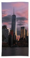 Bath Towel featuring the photograph Magenta Skies by Anthony Fields