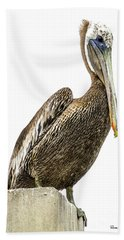 Hand Towel featuring the photograph Majestic Gulf Shores Pelican 1071a by Ricardos Creations
