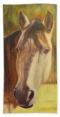 Maggie, Horse Portrait Bath Towel