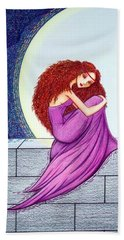 Hand Towel featuring the drawing Maggie's Lullaby by Danielle R T Haney