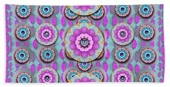 Magic Flowers From  The Paradise Of Lotus Bath Towel