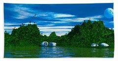Magic Island Hand Towel by Mark Blauhoefer