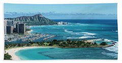 Magic Island To Diamond Head Hand Towel