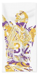 Magic Johnson Los Angeles Lakers Pixel Art 7 Hand Towel