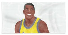 Magic Johnson Hand Towel by Toni Jaso