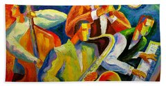 Magic Music Hand Towel by Leon Zernitsky