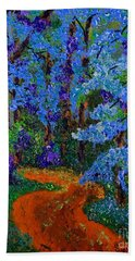 Magical Blue Forest Hand Towel