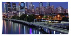 Magical Blue Hour Night Hand Towel by Frozen in Time Fine Art Photography