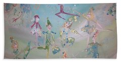 Magical Elf Dance Bath Towel by Judith Desrosiers