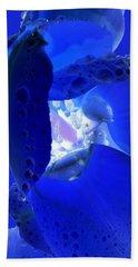 Magical Flower I - Blue Velvet Bath Towel