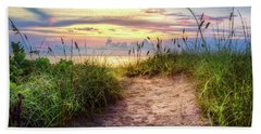 Hand Towel featuring the photograph Magical Light In The Dunes by Debra and Dave Vanderlaan