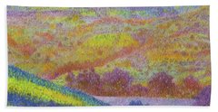 Magical Midnight Grasslands Bath Towel