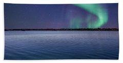 Magical Night By The Seashore Hand Towel