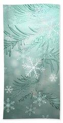 Magical Snow Hand Towel by AugenWerk Susann Serfezi