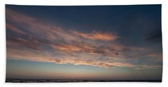 Hand Towel featuring the photograph Magical Sunset by Laura Melis