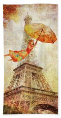 Magically Paris Bath Towel by Christina Lihani