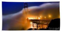 Magical Golden Gate Bridge In The Moonlight Hand Towel