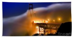 Magical Golden Gate Bridge In The Moonlight Bath Towel