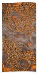 Magma Fusion Abstract Bath Towel