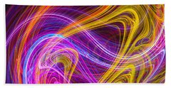 Magnetic Flames Hand Towel by Mark Blauhoefer