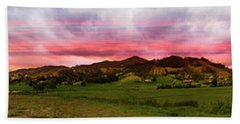 Magnificent Andes Valley Panorama Bath Towel