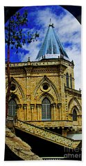 Hand Towel featuring the photograph Magnificent Church Of Biblian by Al Bourassa