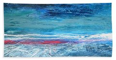 Magnificent Morning Abstract Seascape Hand Towel