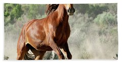 Magnificent Mustang Wildness Hand Towel