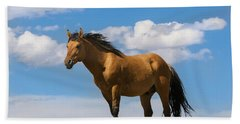 Magnificent Wild Horse Hand Towel