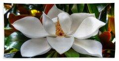 Magnolia Bloom Hand Towel by Ronda Ryan