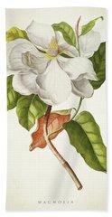 Magnolia Botanical Print Bath Towel
