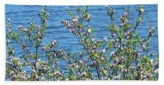 Magnolia Flowering Tree Blue Water Bath Towel