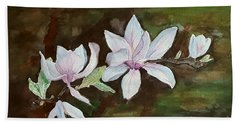 Magnolia - Painting  Hand Towel by Veronica Rickard