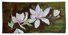 Magnolia - Painting  Bath Towel