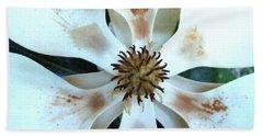 Magnolia Pinwheel Bath Towel by Nancy Kane Chapman