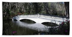 Magnolia Plantation Bridge Hand Towel by Gordon Mooneyhan