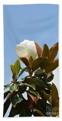 Hand Towel featuring the photograph Magnolia Topper by Maria Urso