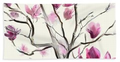 Magnolias In Bloom Bath Towel