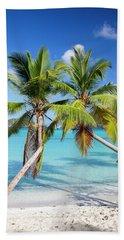Bath Towel featuring the photograph Maho Bay Palms by Adam Romanowicz