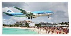 Maho Beach Caribbean Island Of St Maarten Bath Towel