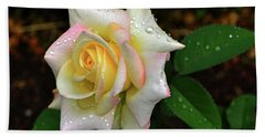 Hand Towel featuring the photograph Maid Of Honour Rose 003 by George Bostian