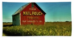 Hand Towel featuring the painting Mail Pouch Barn P D P by David Dehner