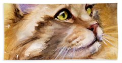Main Coon Hand Towel by Judith Levins